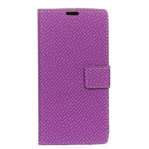 Чехол портмоне подставка текстура Кирпичи на силиконовой основе на магнитной защелке для ZTE Axon 7 mini  Фиолетовый