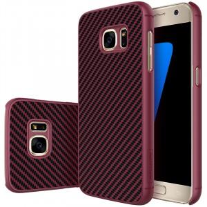 Пластиковый непрозрачный матовый нескользящий премиум чехол с улучшенной защитой элементов корпуса для Samsung Galaxy S7