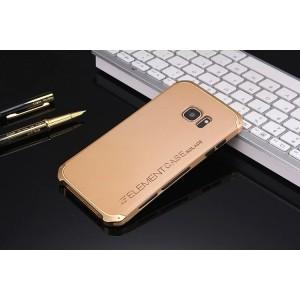 Ударостойкий нескользящий чехол алюминиево-цинковый сплав/силиконовый полимер для Samsung Galaxy S7 Бежевый