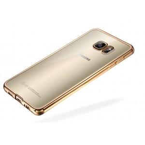Силиконовый матовый полупрозрачный чехол с текстурным покрытием Металлик для Samsung Galaxy S7