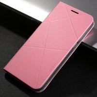 Чехол горизонтальная книжка подставка текстура Линии на пластиковой основе с отсеком для карт для Samsung Galaxy S7  Розовый