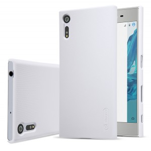 Пластиковый непрозрачный матовый нескользящий премиум чехол для Sony Xperia XZ/XZs Белый