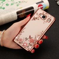 Силиконовый матовый полупрозрачный чехол с текстурным покрытием Цветы для Xiaomi RedMi 2 Розовый