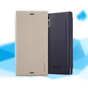 Чехол горизонтальная книжка на пластиковой нескользящей премиум основе для Sony Xperia XZ/XZs