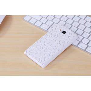 Пластиковый полупрозрачный матовый чехол для Xiaomi RedMi 2 Белый