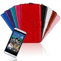 Глянцевый водоотталкивающий чехол горизонтальная книжка подставка на пластиковой основе с отсеком для карт на магнитной защелке для HTC Desire 620