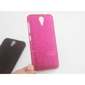 Пластиковый непрозрачный чехол текстура Стразы для HTC Desire 620
