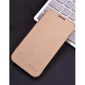 Чехол горизонтальная книжка на пластиковой основе для Samsung J1 Бежевый