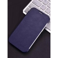 Чехол горизонтальная книжка на пластиковой основе для Samsung J1 Синий