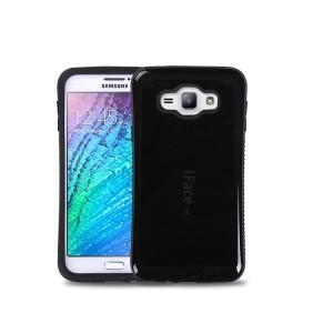 Эргономичный силиконовый глянцевый непрозрачный чехол с нескользящими гранями для Samsung J1