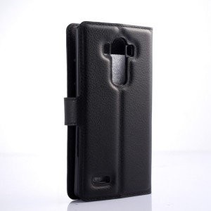 Чехол портмоне подставка на силиконовой основе на магнитной защелке для LG G4 Черный