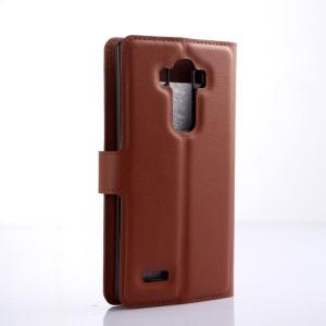 Чехол портмоне подставка на силиконовой основе на магнитной защелке для LG G4