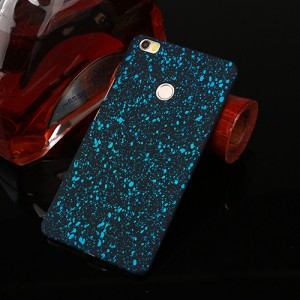 Пластиковый непрозрачный матовый чехол с голографическим принтом Звезды для Xiaomi Mi Max  Голубой