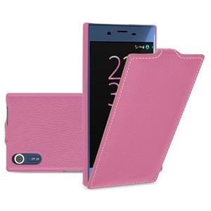 Кожаный чехол вертикальная книжка (премиум нат. кожа) для Sony Xperia X