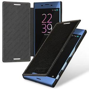 Кожаный чехол горизонтальная книжка (премиум нат. кожа) для Sony Xperia X