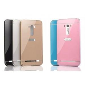 Двухкомпонентный чехол c металлическим бампером с поликарбонатной накладкой и отверстием для логотипа для ASUS Zenfone Selfie