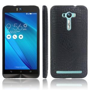 Чехол накладка текстурная отделка Кожа для ASUS Zenfone Selfie  Черный