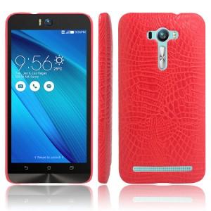 Чехол накладка текстурная отделка Кожа для ASUS Zenfone Selfie  Красный