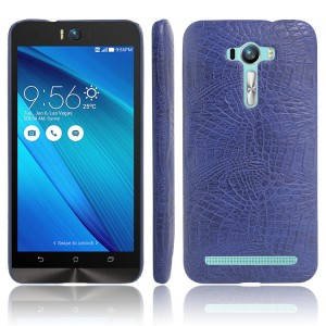 Чехол накладка текстурная отделка Кожа для ASUS Zenfone Selfie  Синий