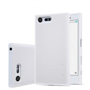 Пластиковый непрозрачный матовый чехол с повышенной шероховатостью для Sony Xperia X Compact
