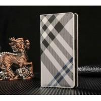 Чехол горизонтальная книжка текстура Линии на пластиковой основе с отсеком для карт для Sony Xperia X Compact  Белый