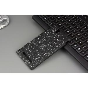 Пластиковый непрозрачный матовый чехол с голографическим принтом для Sony Xperia C3