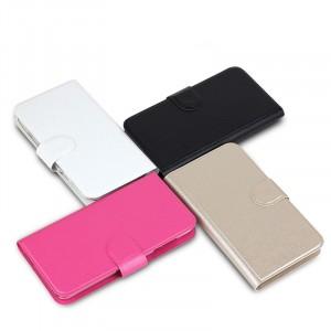 Чехол горизонтальная книжка на пластиковой основе с отсеком для карт на магнитной защелке для Sony Xperia C3