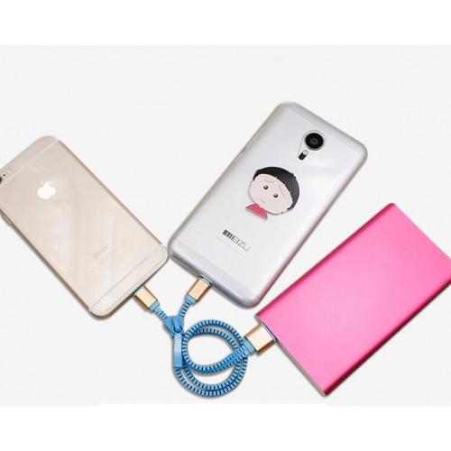 Кабель универсальный USB-Micro USB/Lightning 0.8м дизайн Zipper