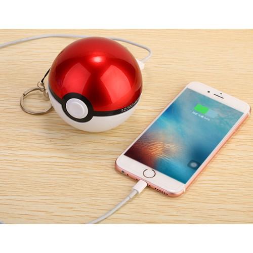 Портативное зарядное устройство 12000 mAh с 2 USB-разъемами (1А и 2А) дизайн Pokemon GO