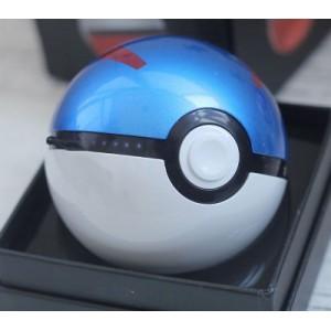 Портативное зарядное устройство 12000 mAh с 2 USB-разъемами (1А и 2А) дизайн Pokemon GO Синий