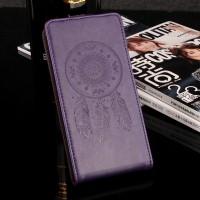 Глянцевый водоотталкивающий чехол вертикальная книжка текстура Ловец снов на силиконовой основе с отсеком для карт на магнитной защелке для Meizu U20 Фиолетовый