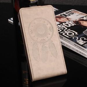 Глянцевый водоотталкивающий чехол вертикальная книжка текстура Ловец снов на силиконовой основе с отсеком для карт на магнитной защелке для Meizu U20 Серый