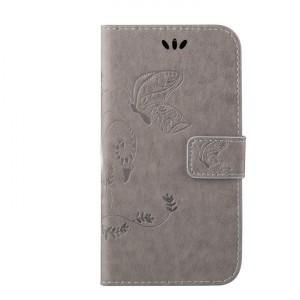 Чехол горизонтальная книжка подставка текстура Бабочка на силиконовой основе с отсеком для карт на магнитной защелке для HTC Desire 816