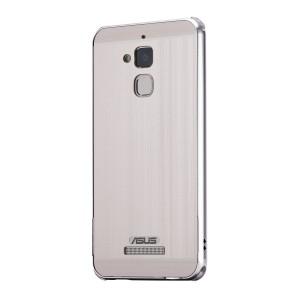 Двухкомпонентный чехол c металлическим бампером с поликарбонатной накладкой и отверстием для логотипа для Asus ZenFone 3 Max