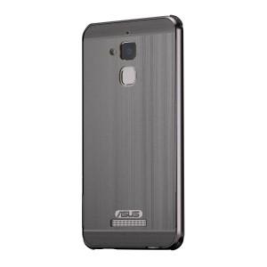 Двухкомпонентный чехол c металлическим бампером с поликарбонатной накладкой и отверстием для логотипа для Asus ZenFone 3 Max Черный