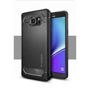 Противоударный силиконовый матовый непрозрачный чехол с поликарбонатными вставками экстрим защиты для Samsung Galaxy Note 5