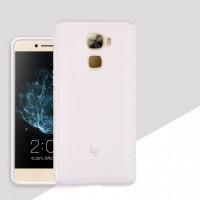 Силиконовый матовый полупрозрачный чехол для LeEco Le Pro 3  Белый