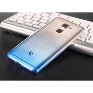 Силиконовый глянцевый полупрозрачный градиентный чехол с улучшенной защитой элементов корпуса (заглушки) для LeEco Le Pro 3