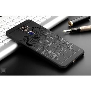Силиконовый матовый непрозрачный чехол с текстурным покрытием Дракон для LeEco Le Pro 3