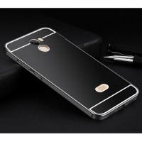 Двухкомпонентный чехол c металлическим бампером с поликарбонатной накладкой и отверстием для логотипа для Xiaomi RedMi 4 Черный
