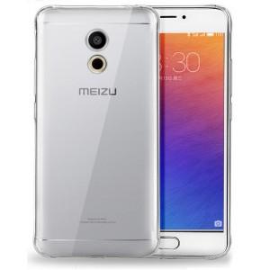 Силиконовый глянцевый транспарентный чехол для Meizu Pro 6