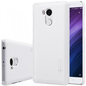 Пластиковый непрозрачный матовый чехол с повышенной шероховатостью для Xiaomi RedMi 4 Pro  Белый