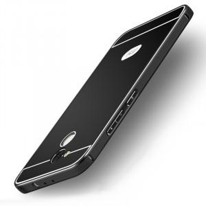 Двухкомпонентный чехол c металлическим бампером с поликарбонатной накладкой и отверстием для логотипа для Xiaomi RedMi 4 Pro