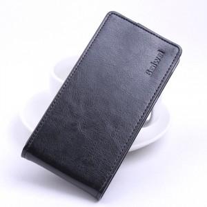 Глянцевый водоотталкивающий чехол вертикальная книжка на силиконовой основе на магнитной защелке для Xiaomi RedMi 4A Черный