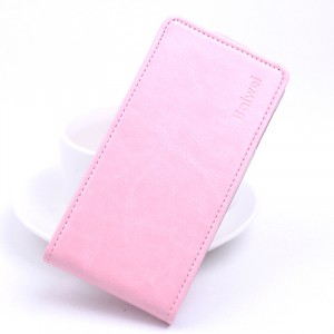 Глянцевый водоотталкивающий чехол вертикальная книжка на силиконовой основе на магнитной защелке для Xiaomi RedMi 4A  Розовый