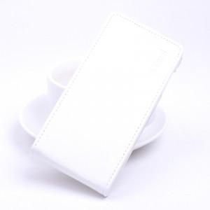 Глянцевый водоотталкивающий чехол вертикальная книжка на силиконовой основе на магнитной защелке для Xiaomi RedMi 4A  Белый