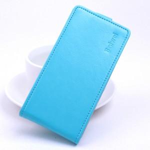 Глянцевый водоотталкивающий чехол вертикальная книжка на силиконовой основе на магнитной защелке для Xiaomi RedMi 4A  Голубой