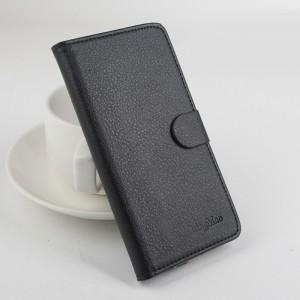 Чехол портмоне подставка на силиконовой основе с отсеком для карт на магнитной защелке для Xiaomi RedMi 4A Черный