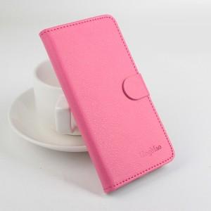 Чехол портмоне подставка на силиконовой основе с отсеком для карт на магнитной защелке для Xiaomi RedMi 4A Пурпурный