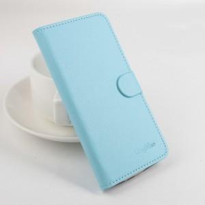 Чехол портмоне подставка на силиконовой основе с отсеком для карт на магнитной защелке для Xiaomi RedMi 4A Голубой